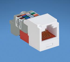Panduit mini-com tx6 plus giga-channel cat6 jack, green, box of 50